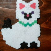 Perlerbead White And Black Cat