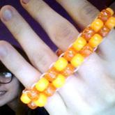 Simple & Small Orange Ladder Cuff  ^3^