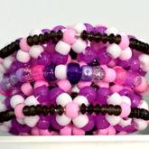 Purple Princess Mini Rotating Kandi Cuff