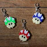 Mario Mushroom Keychains