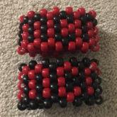 Mcr Red And Black Cuffs