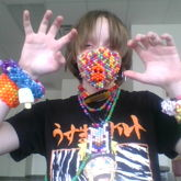 Here's A Picture Of Me In Some Of My Kandi!
