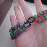 Infinity Green, Pink, Purple And Blue Glitter Double 2