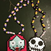 Jack And Sally Perler Necklaces