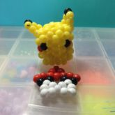 3D Pikachu And Pokeball Star
