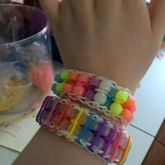 Rainbow Loom Double  Color Changing Beaded Ladder With Pinstripes 4 And Glow Regular Double Beaded Ladder 2