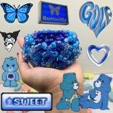 Blue 3-D Cuff