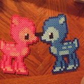 Blue And Pink Fawns