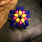 Yellow, Pink, And Blue 3D Star 2