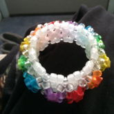 Transparent Rainbow 3D Cuff With UV Reactive Beads And Stars 2