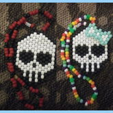 Mr. And Mrs. Skully Necklace Set
