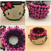 Hello Kitty Kandi Cuff