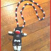 Skeleton Sock Monkey Necklace