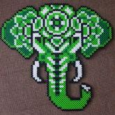 Mandala Elephant Perler