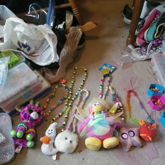 Group Shot Of Pushie Necklaces