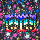 peace and rainbows cuff