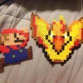 Mario And Moltres Perler