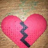 Perlerbead Broken Heart