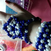 Blue And Pearl Set