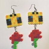Minecraft Bee Earrings!!!!