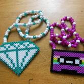 Diamond & Casette Tape Necklaces