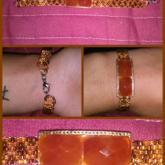 Orange Peyote Bracelet