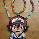 Ash Ketchum Perler Necklace