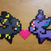 Umbreon & Espeon Love Perler