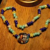 10th Doctor Who Button Necklace