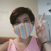 I Made My First Kandi Mask Uwu