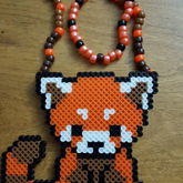 Red Panda Perler Necklace
