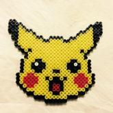 Pikachu Perler Ironed