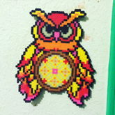 Perler Owl Dream Catcher