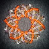 Orange Slinky Cuff