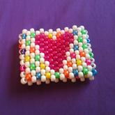 Rainbow Checker And Heart Side One