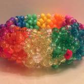 Rainbow 3D Cuff Front