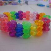 Clear Heart Beads Cuff/multistitch 2
