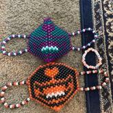 Kandi Cat Masks And Bracelet