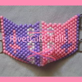 D-Ring Inverted Cross/Pastel Goth/Fairy Kei Cyber Raver Kandi Corset Mask By RivetGiRL Falls