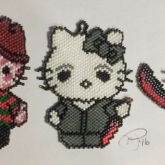 Freddy Krueger, Michael Myers, And Jason Vorhees Hello Kitty