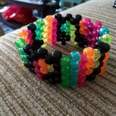 Tiny Music Note Cuff With Glitter Beads