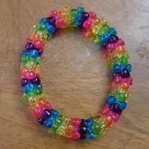 Rainbow triangle bead single