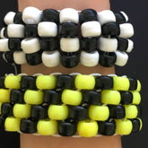 I Have A Fetish For Checkers And Caution Tape, So I Made It Into Pair Of Cuffs