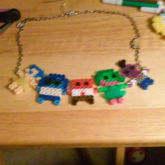 Inside Out Perler Necklace :D