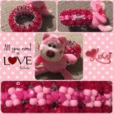 Pink Love Teddy Bear