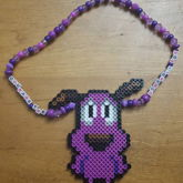 Courage The Cowardly Dog Perler Necklace