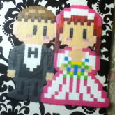 Groom And Bride Perler For Family Friends