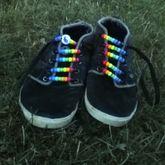 Kandi Rainbow Shoe Laces