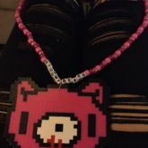 Gloomy Bear Perler Kandi Necklace