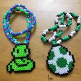 Snake & Yoshi Egg Necklaces